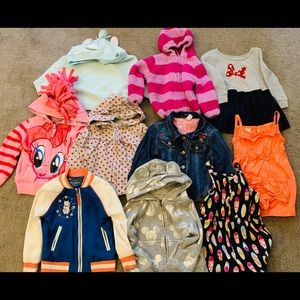 😘Sold😘Girls clothes lot jackets rompers
